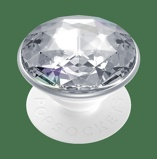 Afbeelding vanPopSockets PopGrip Disco Crystal Silver