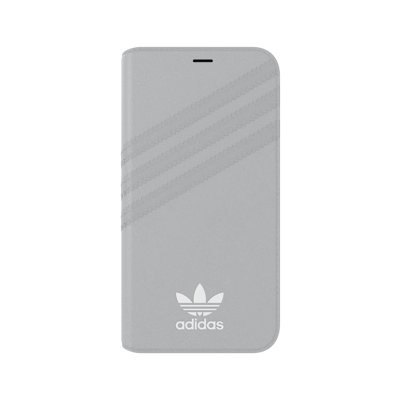 Afbeelding van adidas OR Booklet Case PU SUEDE FW18 for iPhone X/Xs grey