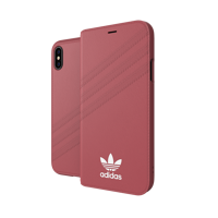 Thumbnail of adidas OR Booklet Case PU SUEDE FW18 for iPhone X/Xs pink