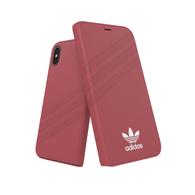 Afbeelding van adidas OR Booklet Case PU SUEDE FW18 for iPhone X/Xs pink