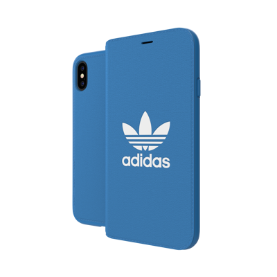 Afbeelding van adidas OR Booklet Case BASIC FW18 for iPhone X/Xs bluebird/white