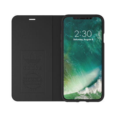 Afbeelding van adidas OR Booklet Case SUEDE FW17 for iPhone X black/white