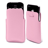 Afbeelding vanMuvit Pocket Slim Leather Pouch Pink voor iPhone 4 / 3Gs