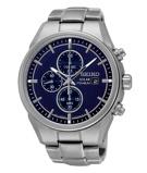 Afbeelding vanSeiko Solar SSC365P1 Chrono Titanium horloge herenhorloge Grijs