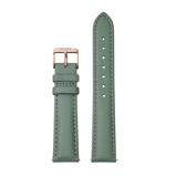 Afbeelding vanCLUSE CS1408101087 Horlogeband leder groen rosekleurig 18 mm