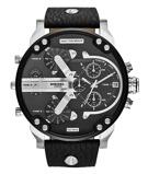 Afbeelding vanDiesel DZ7313 Horloge Chronograaf Mr. Daddy 2,0 staal/leder zwart