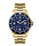 Afbeelding vanICE Watch IW016761 Steel Gold Blue horloge Medium herenhorloge Goudkleur
