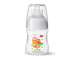 Afbeelding vanBibi Happiness fles Play With Us 120 ml oranje/groen