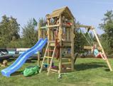 Image of Jungle Gym Speeltoren met Glijbaan en Schommel Safari 1 Swing