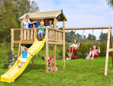 Imagine dinChildren's Swing Sets Playhouse XL 2 Swing