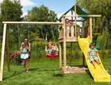 Imagine dinChildren's Climbing Frame Lodge 2 Swing