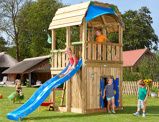 ObrázekJungle Gym Children's Garden Playhouses Barn Playhouse 145