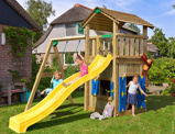 ObrázekJungle Gym Childrens Garden Playhouse Cottage Playhouse 1 Swing
