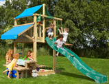 Imagine dinChildrens Climbing Frame with Picnic Table Lodge Mini Picnic 160 cm
