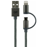 Afbeelding vanGP CB03 Charge & Sync kabel, 2 in 1 Micro USB + Lightning connector