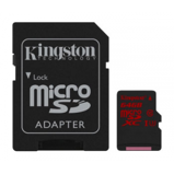 Afbeelding vanKingston 64GB microSDXC kaart CL3 UHS I 90R / 80W incl SD adapter