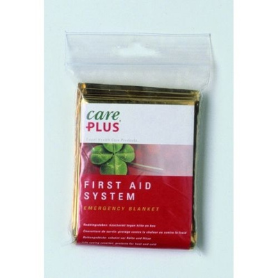 Afbeelding van Care Plus First Aid Emergency Blanket 160 cm x 213 gold / silver