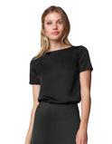Abbildung vonLaDress Monica bluse aus satin schwarz