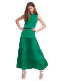 Abbildung vonLaDress Skirt Green Jourdan Crepe de Chine Tiered