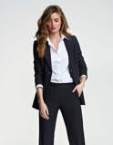 Abbildung vonLaDress Carey crêpe satin blazer schwarz