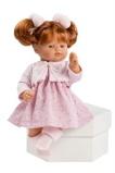 Billede afAsi Guille dukke Med rødt hår, fin kjole og cardigan 36 cm.
