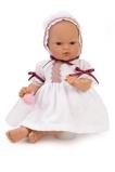 Billede afASI Koke babypige 36 cm Hvid kjole med søde effekter og med sutteflaske