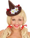 """Bilde av""""Brun Oktoberfest Minihatt med Blomster"""""""
