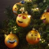 Afbeelding van1 set Emoji Kerstballen