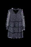 Image deFSTVL by MS Mode Mesdames Robe à fleurs avec des décors froncés Violet
