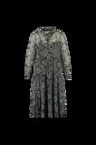 Image deFSTVL by MS Mode Mesdames Robe chemise à imprimé Noir