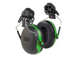 Afbeelding van3M Peltor X1P3 Gehoorkap Met Helmbevestiging Zwart/groen Passieve Gehoorkappen