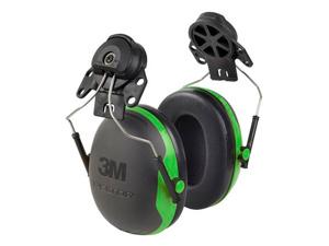 Afbeelding van 3M Peltor X1P3 Gehoorkap Met Helmbevestiging Zwart/groen Passieve Gehoorkappen