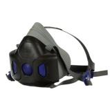 Afbeelding van3M Secure Click HF 803SD Halfgelaatsmasker Donkergrijs L Halfgelaatsmaskers Met Bajonetaansluiting