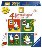 Afbeelding vanPuzzel Ravensburger Nijntje 4x puzzels 6+9+12+16 stuks