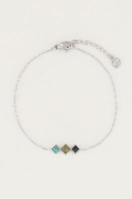 Afbeelding van Armband donkere edelsteentjes, gemstone bracelet