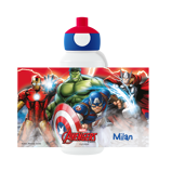Abbildung vonAvengers Trinkflasche Pop up mit Namen vom Kind bedrucken Disney Campus