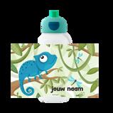 Abbildung vonChameleon Trinkflasche Pop up Campus Mit Namensaufdruck Campus Rundumdruck