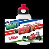 Abbildung vonCars Trinkflasche Pop up mit Namen vom Kind bedrucken Disney Mepal Campus