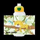 Abbildung vonleopard Trinkflasche Pop up Campus Mit Namensaufdruck Campus Rundumdruck