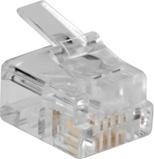 Afbeelding vanRJ11 stekker voor ronde kabel 25 stuks