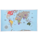 Afbeelding vanMerkloos Scratch World Map Wereldkaart Kras Wereld kaart