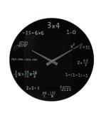 Afbeelding vanOut of the Blue glazen wandklok wiskunde