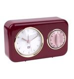 Afbeelding vanPT Nostalgia tafelklok met timer (Kleur: rood)
