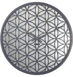 Afbeelding vanWandklok NeXtime dia. 50 cm, hout/spiegel, grijs