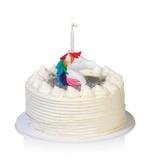 Afbeelding vanBitten kaarsenstandaard Eenhoorn met 2 kaarsjes Wit Kunststof