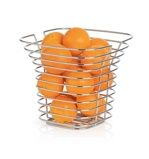 Afbeelding vanBlomus fruitschaal vierkant hoog SONORA chroom