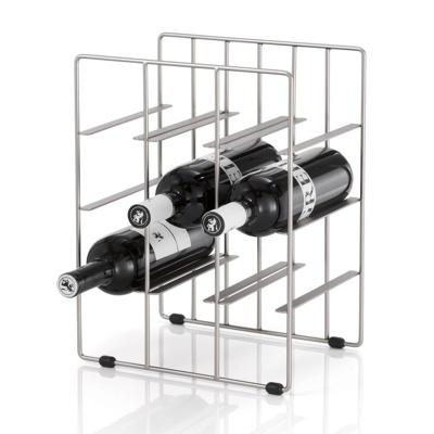 Afbeelding van Blomus wijnrek voor 9 flessen PILARE nikkel