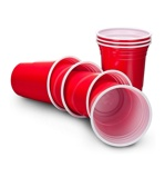 Afbeelding vanOut of the Blue red party cups Beer Pong