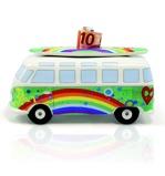 Afbeelding vanBrisa Spaarpot Volkswagen T1 bus Groen