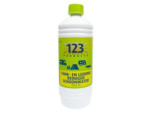 Afbeelding van 123 Products tank en leidingreiniger schoonwater 1 liter Reinigen & schoonmaken